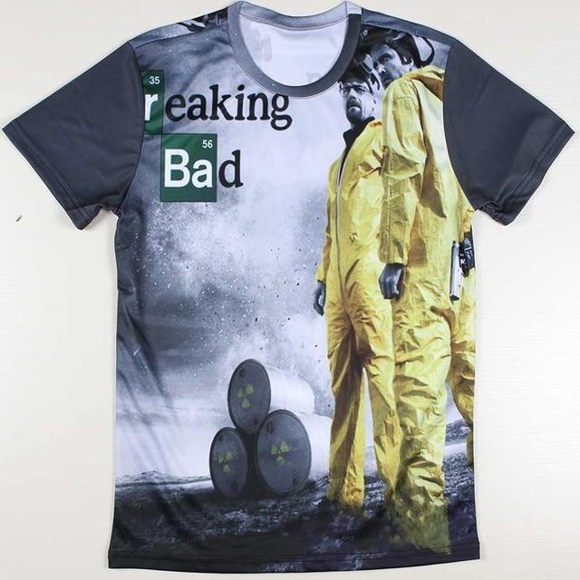 30eba6f24e363 Alta calidad de hombre Camisetas Breaking Bad Camisetas Heisenberg Camisetas  capitán américa Funny T-shirt