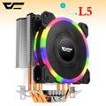 Darkflash L5 Процессор кулер охлаждения TDP 280 Вт 5 теплопроводов холодильник 4 p pwm-лампа 120mm Вентилятор радиатора/115X/775/1366/AM2 +/AM3 +/AM4