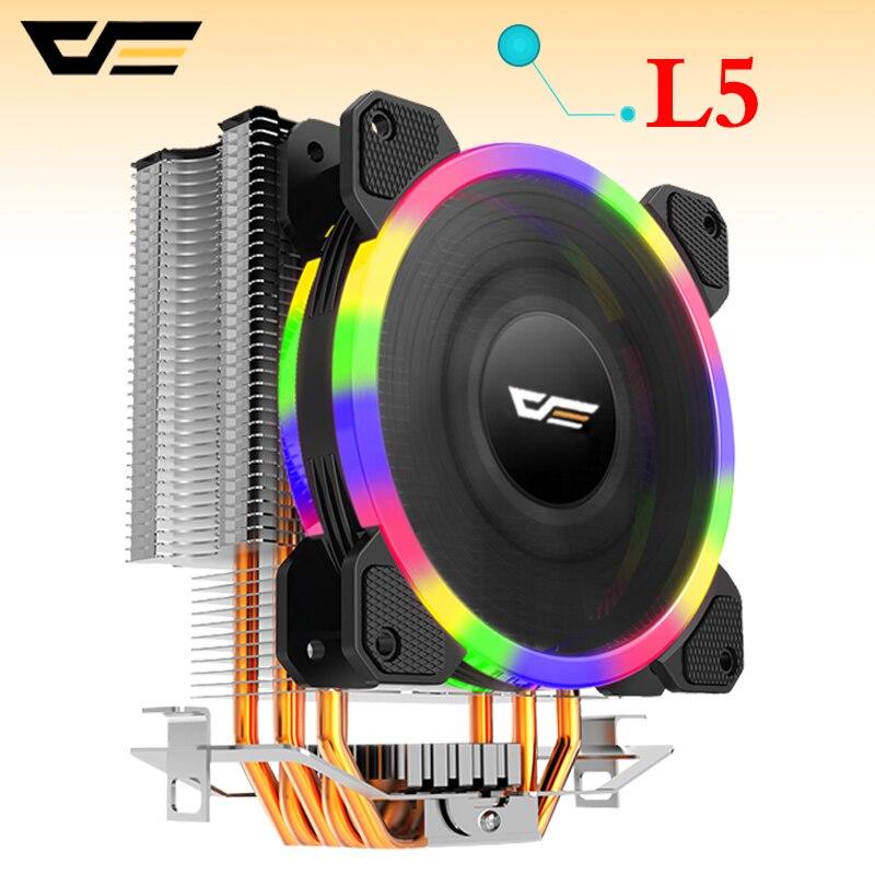 Darkflash L5 enfriador de CPU de TDP 280 W 5 heatpipes 4 p PWM LED ventilador de 120mm del radiador disipador de calor/ 115X/775/1366/AM2 +/AM3 +/AM4