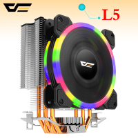 darkflash L5 CPU cooler Cooling TDP 280W 5 heatpipes 4p PWM LED 120mm fan Radiator heatsink /115X/775/1366/AM2+/AM3+/AM4