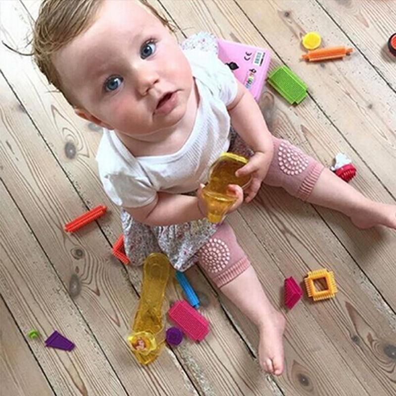 1Pair Baby Knee Pad Kids Safety Crawling Elbow Cushion Toddler Leg Warmers