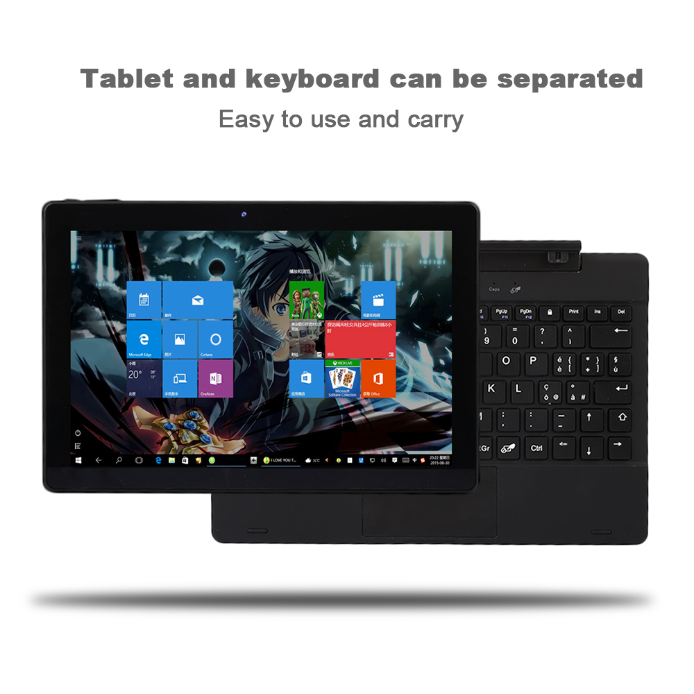 NERLMIAY Brand New 10.1 Inch 2 in 1 Tablet PC Windows 10 2GB RAM + 32GB ROM Dual Cameras IPS Touch Screen Accessory Office