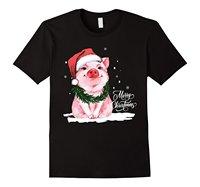 Porcos do Amor feliz Natal Camiseta Verão de Manga Curta Camisas Tops S ~ 3Xl Big Size TeesNew CottonTeesCool Verão Dos Homens do Algodão T-Shirt