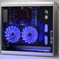 120mm DC 12V CPU cooling fan video card fan small 3PIN/ large 4PIN LED motherboard mute radiator fan Case radiator Fan