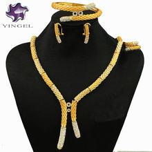 Новый дизайн африканские Ювелирные наборы Золотое женское свадебное
