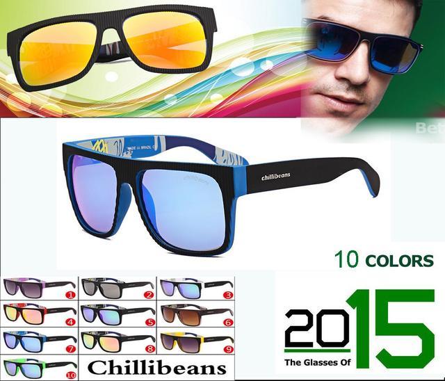 2016 nova marca Chillibeans óculos De Sol da moda Men brasil venda quente  ao ar livre 4bd365ed0c