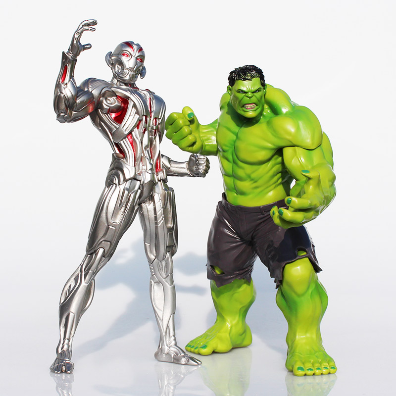Superheroes The 2 Age Of Ultron Hulk Ultron PVC Action Figure Toy Collectible Model Doll Great Gift 25cm/23cm shfiguarts batman injustice ver pvc action figure collectible model toy 16cm kt1840