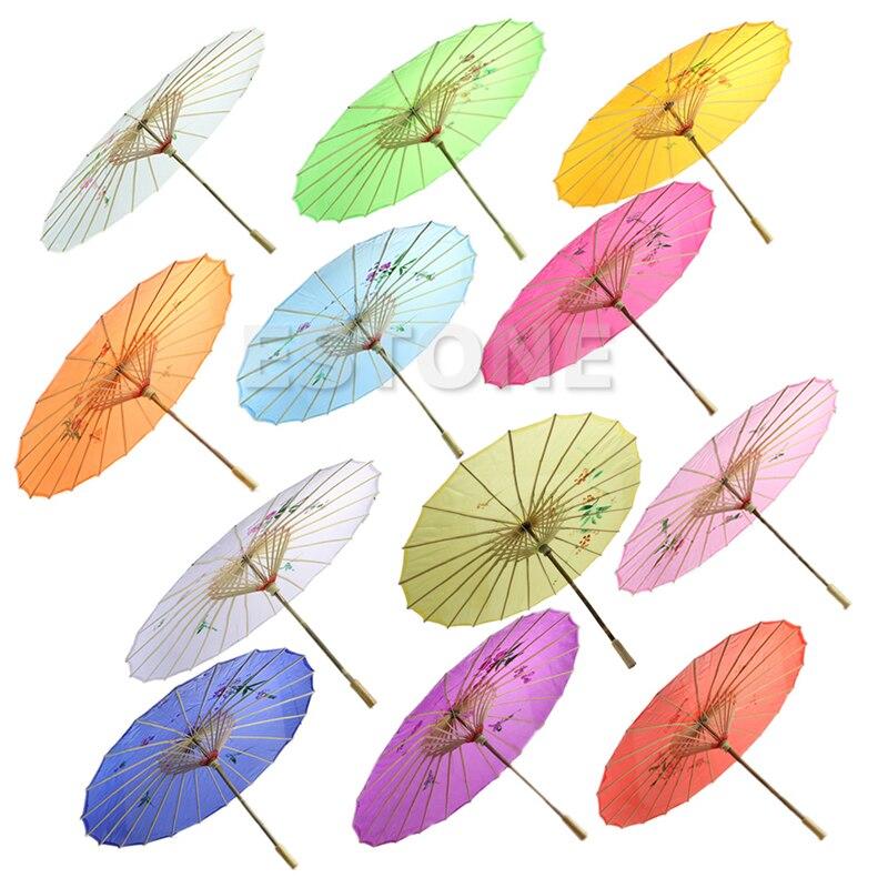 Chinese Japanese Umbrella Art Deco Painted Parasol Umbrella