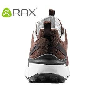 Image 3 - RAX חדש גברים של נעלי הליכה עור עמיד למים לנשימה ריפוד נעלי נשים חיצוני טרקים תרמילאים נסיעות נעלי גברים