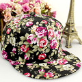 2016 Brand Flowers Embroidery Baseball Cap Bone Snapback Summer Adjustable Track Sun Hat Casquette for Women Men Chapeau