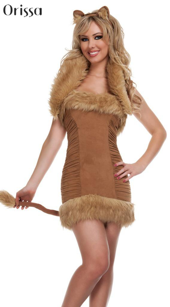 Halter backless sexy lion costume halloween cosplay party outfit fancy dress fashion costumes girls carnival costumes for women-in Sexy Costumes from ...  sc 1 st  AliExpress.com & Halter backless sexy lion costume halloween cosplay party outfit ...