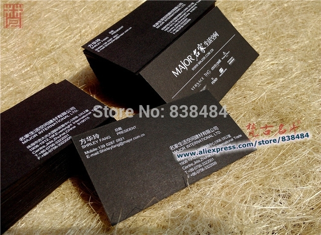 600gsm thick black cardboard silver foil customized business cards 600gsm thick black cardboard silver foil customized business cards high quality top grade reheart Image collections