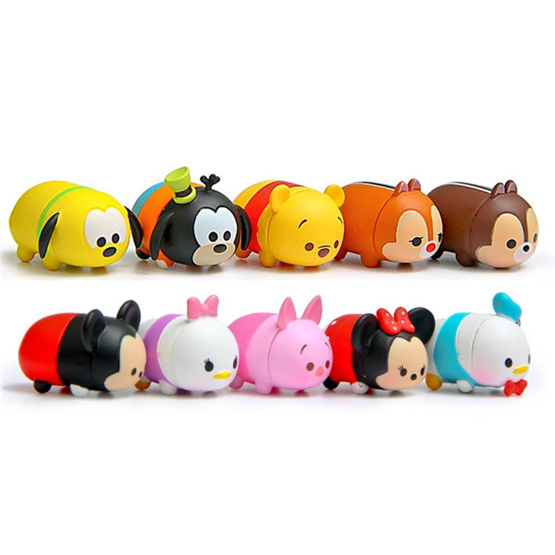 10Pcs/lot 3.8CM Anime Tsum Tsum Donald Mickey Winnie Duck Toys Cute Elf Doll Bathing Toy Juguetes For Chirldren Gift Brinquedos 20cm canine patrol dog toys russian anime doll action figures car patrol puppy toy patrulla canina juguetes gift for child m134