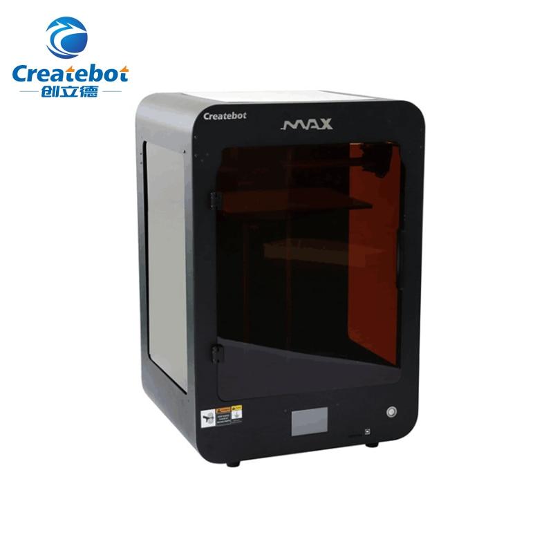 Createbot MAX 3D imprimante cadre en métal grande taille d'impression 280*250*400 MM FDM 3d imprimante Support PLA/ABS/bois/hanches/Filament Flexible