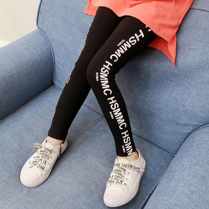 6478b29ed Girls leggings Kids pants 2019 Spring Teen clothes Fashion letters print  Leggings girl Roupas infantis menina