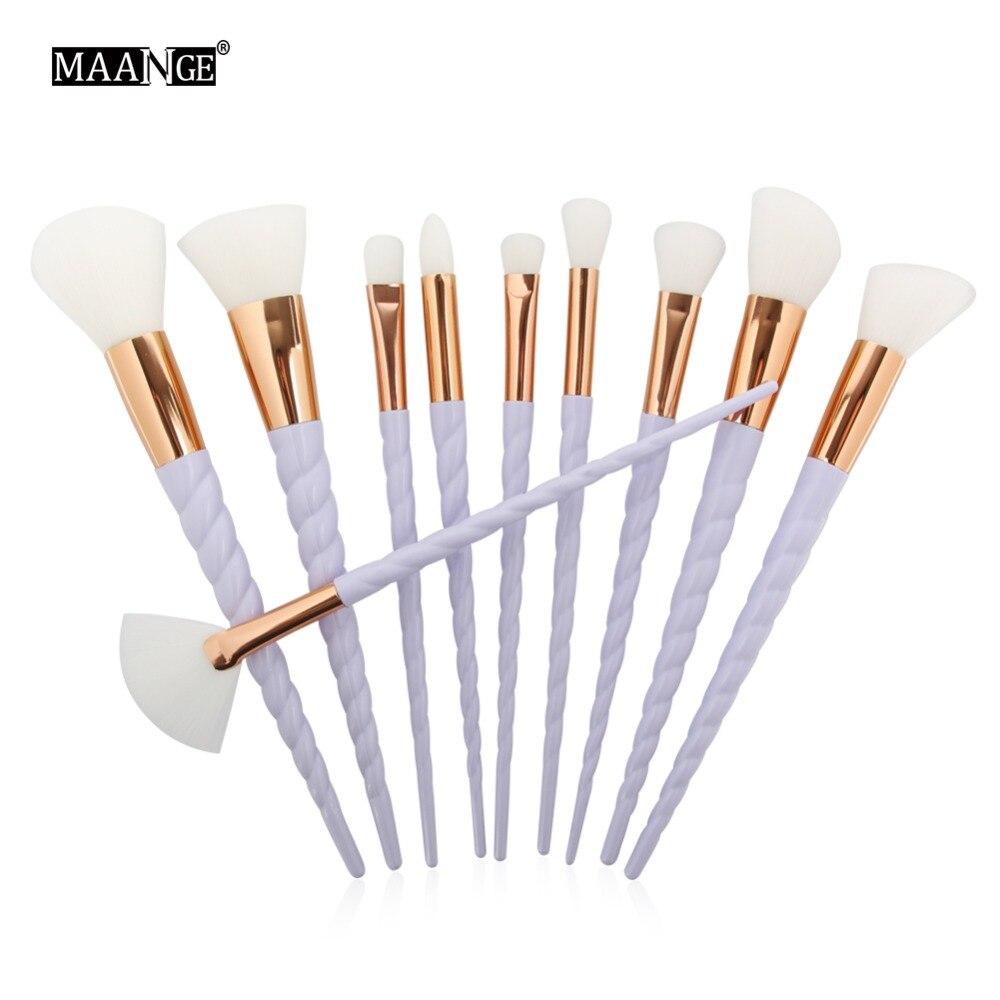 10pcs Unicorn rainbow Makeup Brushes Set for Foundation Eyshadow Blusher Powder Blending Brush Cosmetics beauty tools