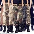 2016 Мужчины Повседневная Военный камуфляж брюки джинсовые комбинезоны спецназ combat multi-карманный тактические брюки-карго