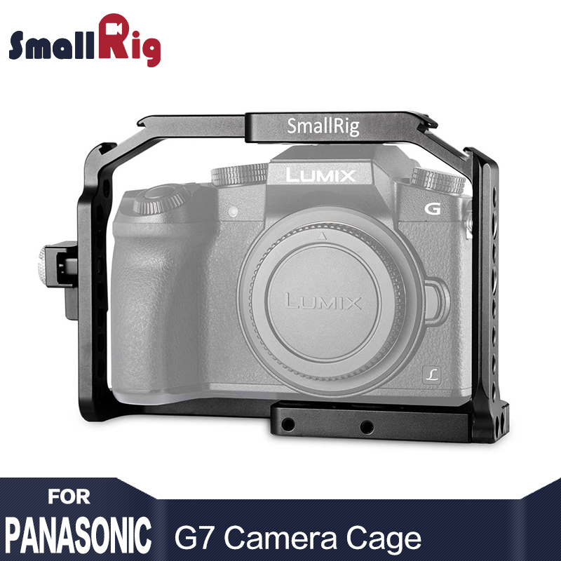 SmallRig Vlog Camera Cage for Panasonic Lumix G7 with HDMI Cable Clamp G7 Form Fitting Cage Camera Stabilizer --1779