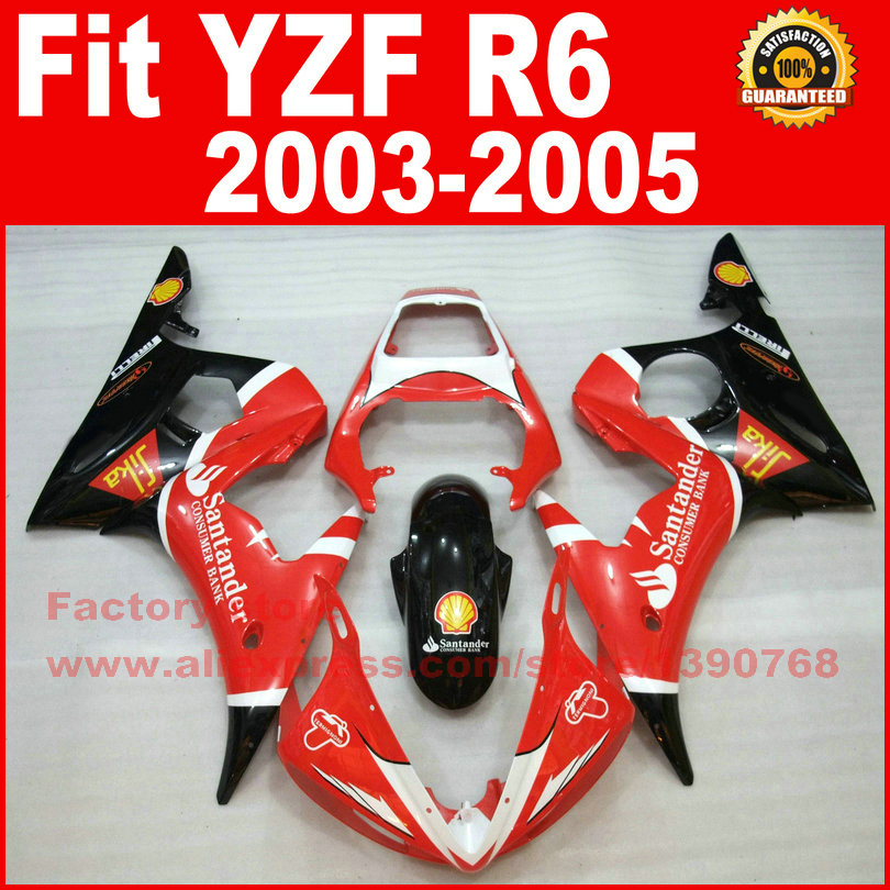 Motor parts for YAMAHA R6 fairing kits 2003 2004 2005 YZF R6 fairing 03 04 05 body kit V969