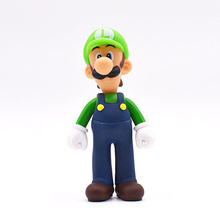 Super Mario Bros Luigi Mario Action Figure Dolls 13cm Green Hat High Quality PVC Collection Model Toys For Kids Birthday Gifts цена 2017