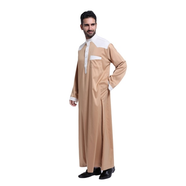 Muslim clothing for Men Mens Kaftan Jubba Thobe White Abaya Arab clothing Man Islamic clothing Ropa Arabe hombre S2