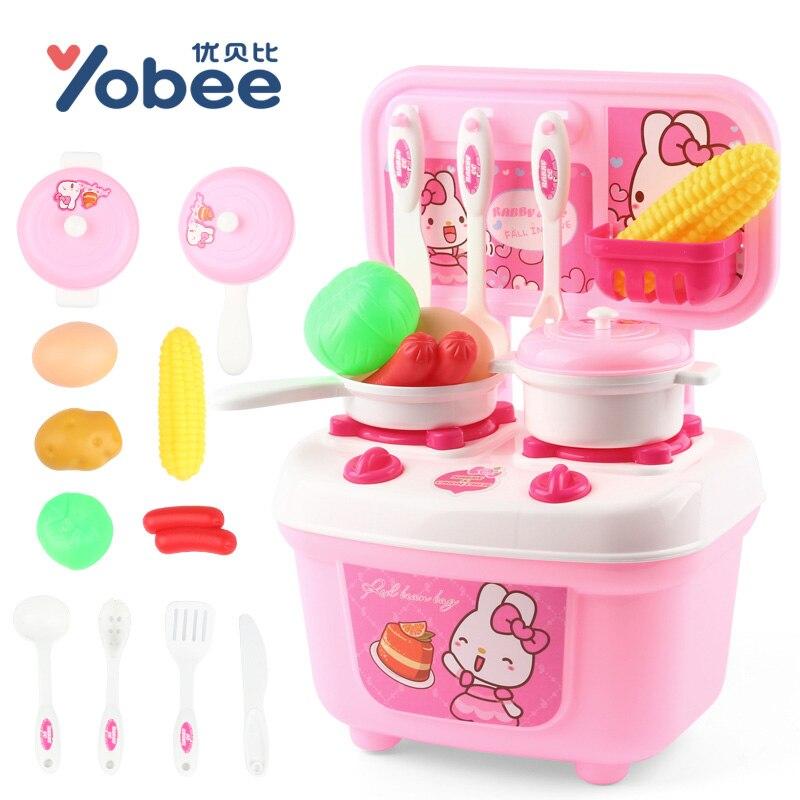 Yobee Kinder Puzzle Mini Küche Spielzeug Set Simulation Obst Und Gemüse  Erkenntnis Küche Prentend Spielen Spielzeug