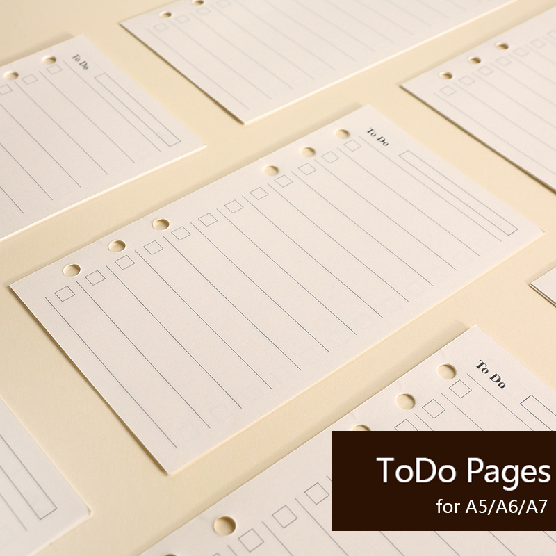 3 Pcs Lot A5 A6 A7 To Do List Planner Notebook Paper Inner Pages