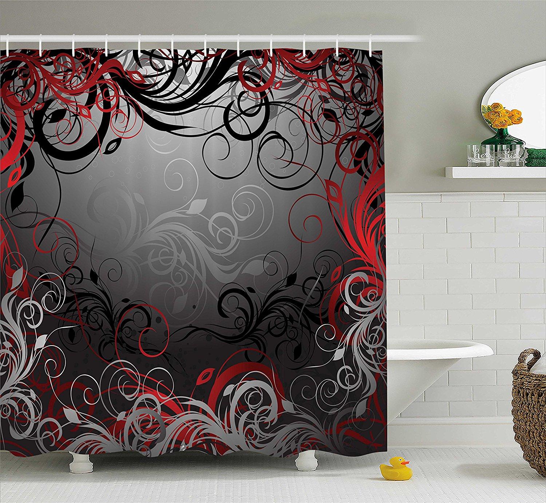 Bathroom Shower Curtain Alice In Wonderland Decorations Welcome