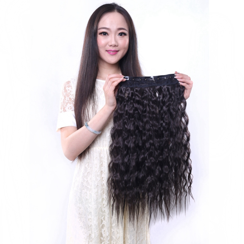 Clip In Hair Extension 5Clips 1PC 120G 55cm Womans Long Pieces One Piece Factory Price Model Grey Top Fashion Extensions