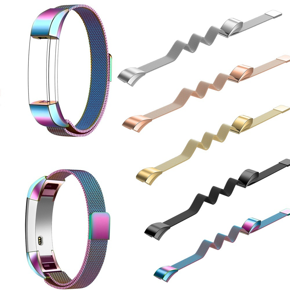 цена на JANSIN fashion milanese loop strap for Fitbit Alta and Alta HR watch band stainless steel Magnetic buckle Replacement Bracelet