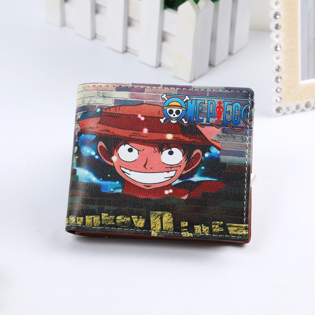 New Attack On Titan One Piece Naruto Anime Character Design Short Man Wallet Cartoon Card Holder Bag Women Coin Carteira