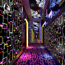 Beautiful Geometric Pattern Wall Covering 3d Wallpaper For Bar KTV  Home Interior Decoration