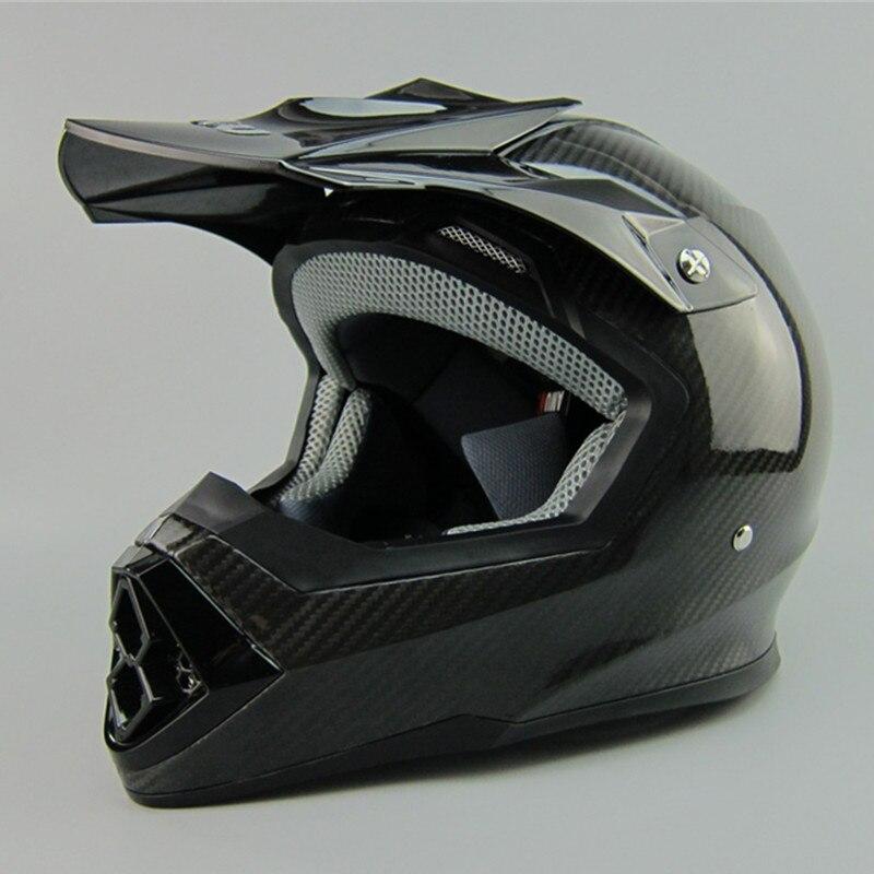 Livraison gratuite AMU casque de moto en fibre de carbone léger casque de Cross professionnel DOT ECE approuvé