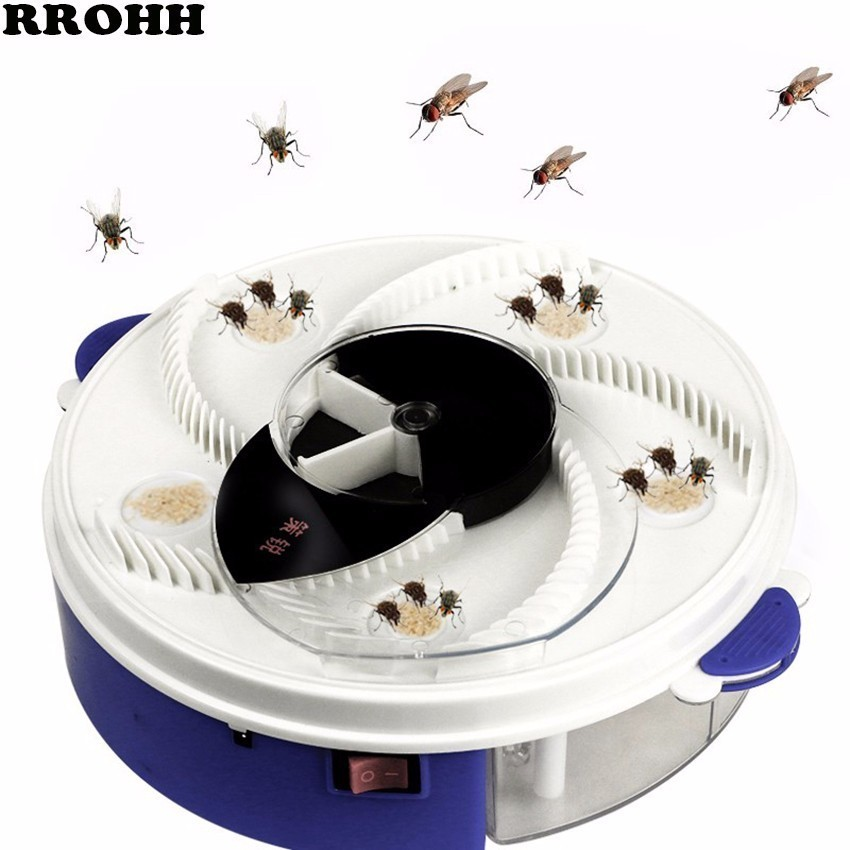 HOT Automatic Flycatcher Device Electric Fly Trap USB Anti Fly Killer Traps Insect Pest Reject Control Catcher Flytrap Catching