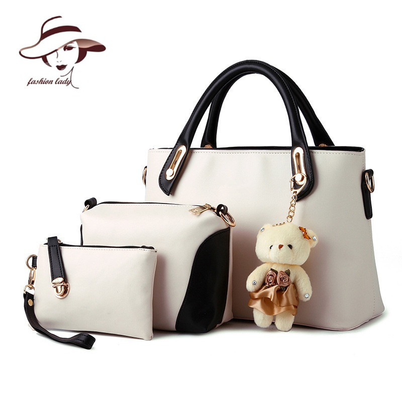 2017  women bag composite bag buy one get three 3 bags a set candy color women h