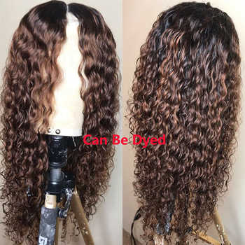 Brazilian Deep Wave Lace Front Wig With Baby Hair Lace Wigs RXY Preplucked 13x4 Lace Front Human Hair Wigs For Black Women Remy