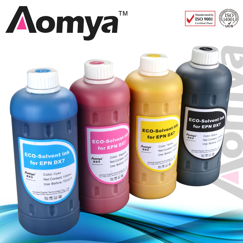 Eco Solvent Ink For EPSON 4880 R880 9880 4800 7800 9800 Printer 1000ml Color 8colors Set Flexo Printing