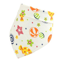 Random Color!Cotton Bibs Baby Babador Feeding Smock Infant Burp Cloths Cartoon Saliva Towel Baby Eating Accessory Soft BabyStuff(China)