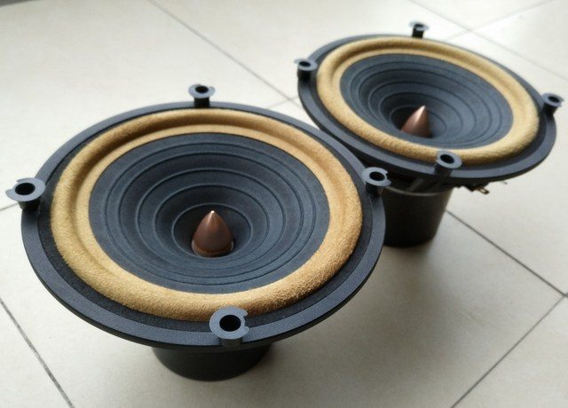 pair 2pcs Melo David audio HiEND 6.5inch fullrange speakerDIATONE P610 CL0N   bigger Alnico version