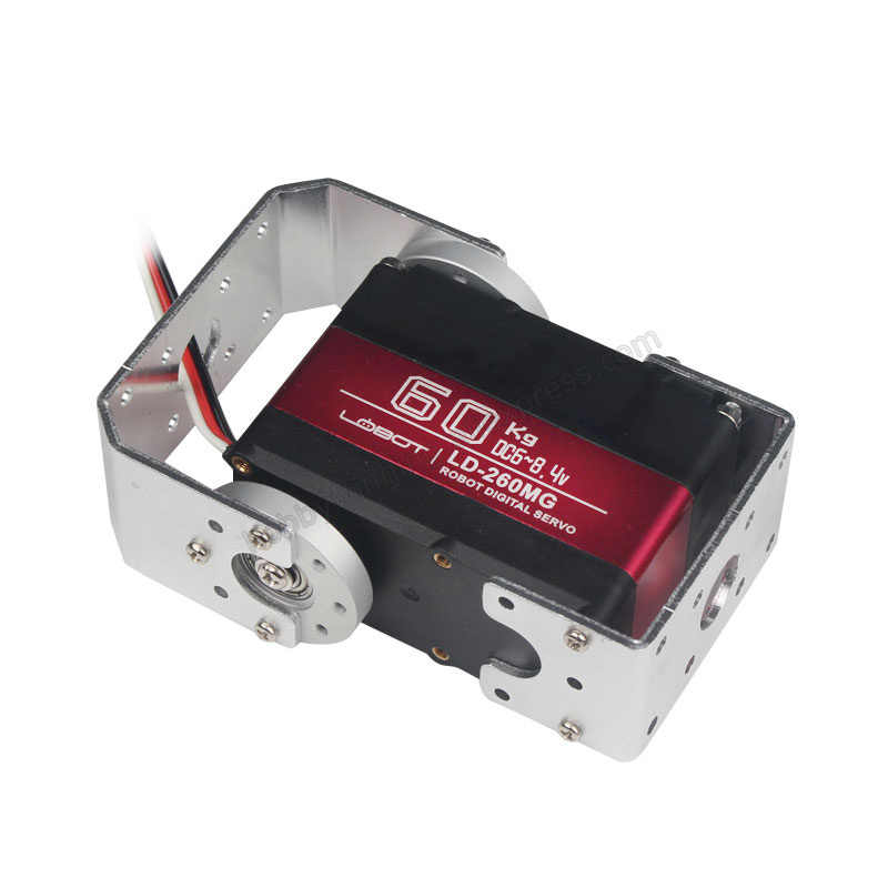 60 KG High Torque servo Robot motor Biaxiale as Digitale Servo 180 graden Metal gear Stuurinrichting Aluminium Case LD-260MG