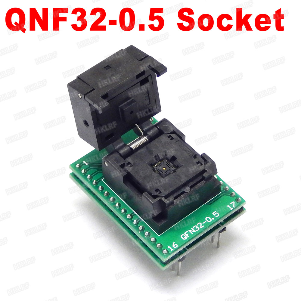Free shipping QFN32 5 5 0 5 Adapters MLP32 chip test Adapters to DIP Programmer MLF32