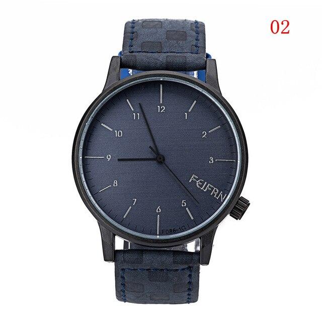 Zegarek męski FEIFAN nietypowa bransoleta w kratkę różne kolory