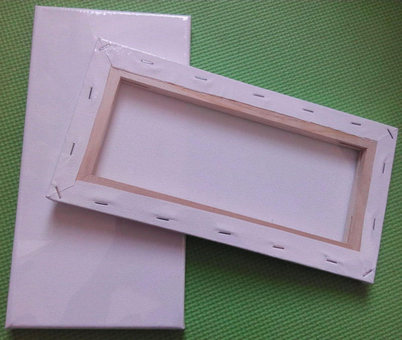 3pcs White Artist Canvas Wooden Frame 6x12cm For Painting