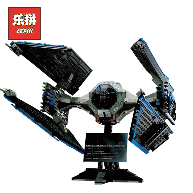 Lepin 05044 Stars Series War limited Edition TIE Interceptor Building Blocks Bricks Model Educational Toys 7181 Christmas Gift конструктор lepin star plan истребитель tie interceptor 703 дет 05044