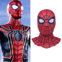 2018 Movie Avengers 3 Infinity War Iron Spider Man Cosplay Masks Spider-Man Latex Superhero Adult Props Party Halloween