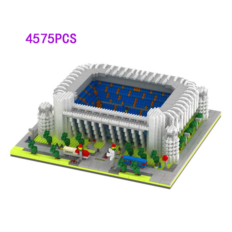 Famous Spain Real Madrid football club micro diamond building block Santiago Bernabeu Stadium nanoblock model bricks toysFamous Spain Real Madrid football club micro diamond building block Santiago Bernabeu Stadium nanoblock model bricks toys