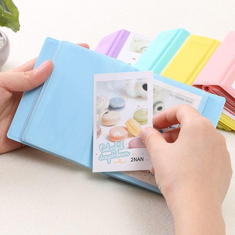 Instax mini 8 foto álbum con 28 bolsillos portátil foto álbum de tarjeta de PVC álbum bebé familia decoración foto Polaroid álbum