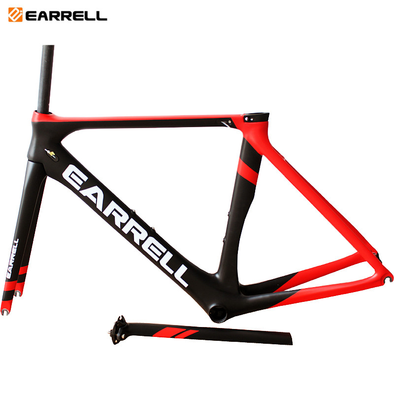 2019 Earrell UD Glossy Surface Road Bike Bicycle Carbon Frameset Is Available BB86 V Brake Bicycle Frame 50/53/55CM Bicycle Part