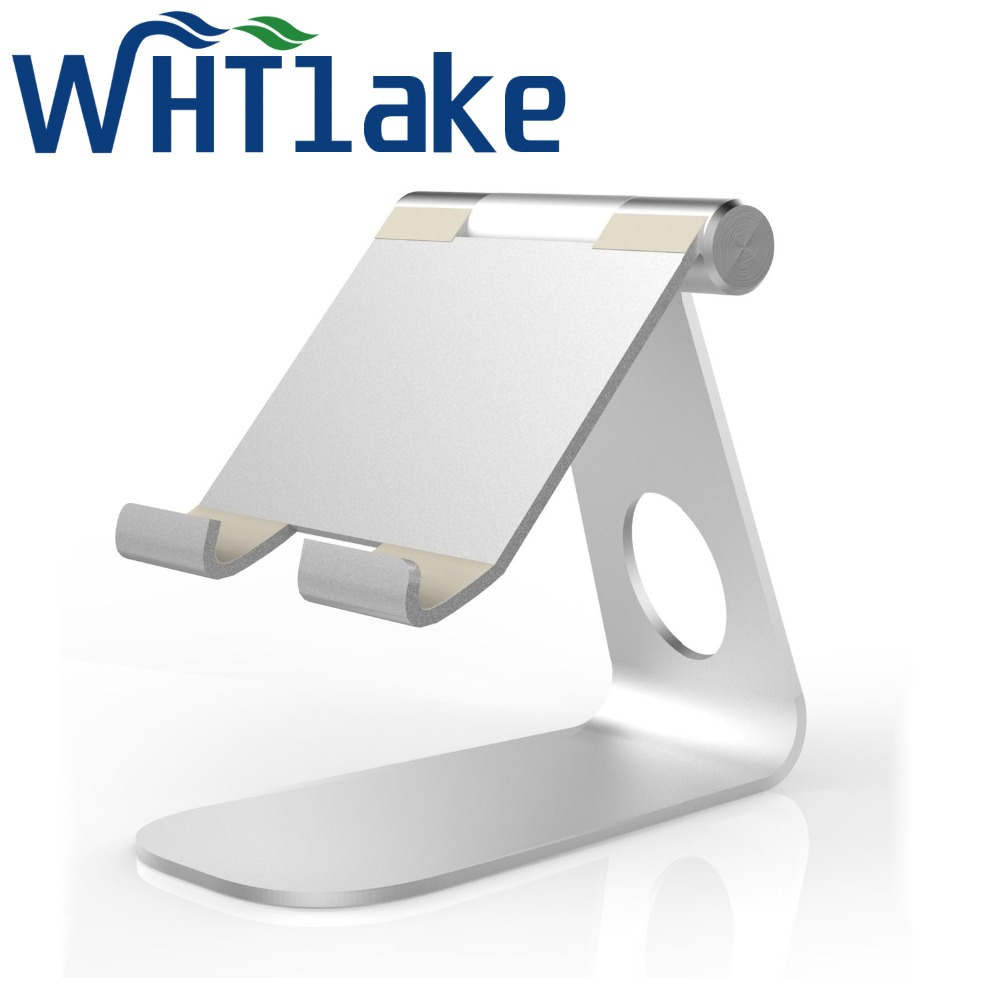 HuaTLake Universal Aluminum Alloy Tablet Mobile Phone Holder Desk Phone Stand Cradle Lazy Support Holder Stand for iPad Pro 9.7