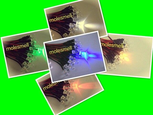 """500pcs 5mm 5v 12v 24v מהבהב אדום, צהוב, כחול, ירוק, לבן מהבהב פלאש LED מנורת אור קבע מראש Wired 5 מ""""מ 5v 12V 24v DC Wired"""